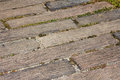Brick road concrete stone way city texture Royalty Free Stock Photo