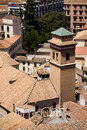 Brick roofs in Granada town Royalty Free Stock Photo