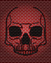 Brick skull Stock Photo