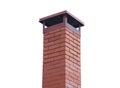 Brick smokestack isolated on white Royalty Free Stock Photo