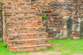 brick stair in park Royalty Free Stock Photo