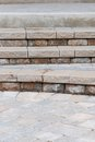 Brick steps modern starting from a patio Royalty Free Stock Photos