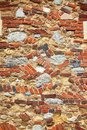 Brick and stone wall on church in Steeple Royalty Free Stock Photo