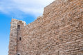 Brick stone wall of  Kerak castle, Jordan Royalty Free Stock Images