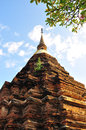 Brick stupa Royalty Free Stock Image