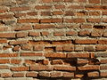 Brick texture from an abandoned xix century building Stock Image