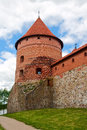 Brick tower of the castle in Trakai Stock Photos