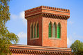 Brick tower with trifora windows Royalty Free Stock Images