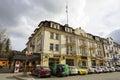 Brick townhouse in Zakopane in Poland Royalty Free Stock Photo