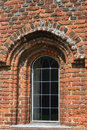 Brick tudor window with arch Stock Photography