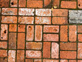 Brick walkway texture bricks in a pedigree pattern create this abstract image on a path Stock Photos