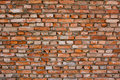 Red brick wall background textured