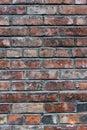 Brick wall aging with cracks Stock Photos