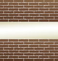 Brick wall background with blank place brown for text Royalty Free Stock Photo