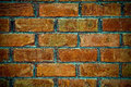 Brick wall background brown red tones Royalty Free Stock Photo