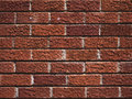 Brick wall background close up of a texture Stock Photos