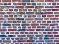 Brick wall background in closeup