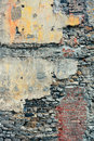 Brick wall background colorful from old building in quebec city Stock Images