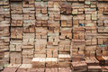 Brick wall background with different colors Royalty Free Stock Photography