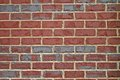 Brick wall background horizontal red and gray bricks on a suitable for a Stock Photos