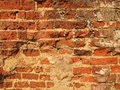 Brick wall background old red Royalty Free Stock Photo