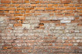 Brick wall background old of red hard light Royalty Free Stock Photography