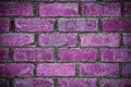 Brick wall background radiant orchid tones Royalty Free Stock Images