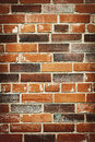 Brick wall background red and brown of grungy Stock Image