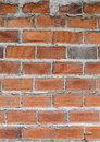Brick wall background and stones with markings Royalty Free Stock Image