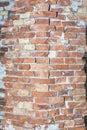 Brick wall background, wall texture, vintage brick