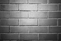Brick wall black and white version Royalty Free Stock Image