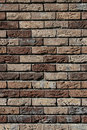Brick wall brown Royalty Free Stock Image