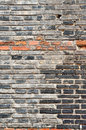 Brick wall chinese ancient black Stock Images