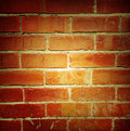 Brick wall closeup of bricks in Royalty Free Stock Photos