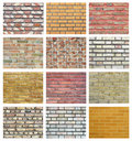 Brick wall collection Stock Photos