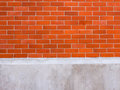 Brick wall and concrete for background a Royalty Free Stock Images