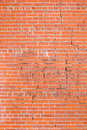 Brick wall cracks Royalty Free Stock Photography