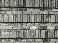 Brick wall eroded and weathered texture Stock Images