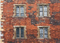 Brick wall facade Stock Photography