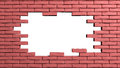 Brick wall frame with hole d Stock Images