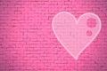 Brick Wall Graffiti Heart, Val...
