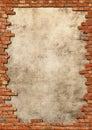 Cihla stěna mizerná rám