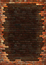 Brick wall grungy frame Stock Photography