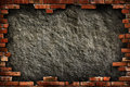 Brick wall grungy frame Royalty Free Stock Photo