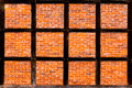 Brick wall of half timbered house Stock Photography