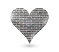 Brick wall heart illustration design over a white background Royalty Free Stock Photography