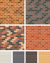 Brick wall illustration of a for your designs Stock Photos