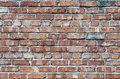 Brick wall image of many layers of stacked bricks Stock Photography
