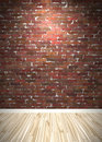 Brick Wall Interior Space Royalty Free Stock Image