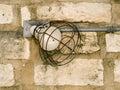 Brick wall and lamp Stock Image